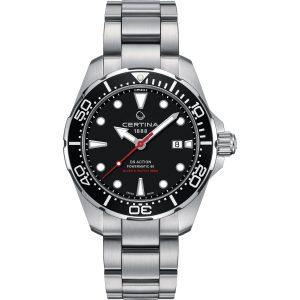DS Action Diver Powermatic Herreur Fra Certina C0324071105100