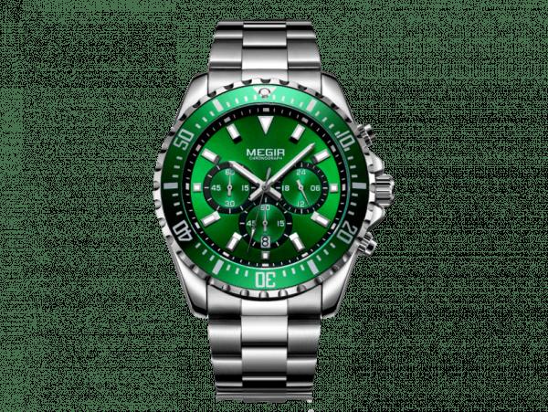 Megir Aviator Steel/Green