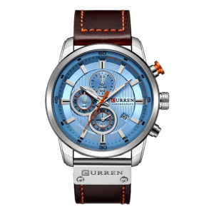 Curren Chronograph Leather Blue