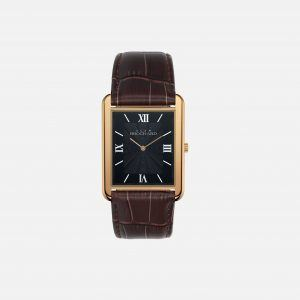 Dean Brochard CLASSIQUE GOLD 36MM WITH TENTANT STRAP