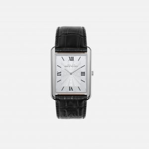 Dean Brochard CLASSIQUE SILVER 36MM WITH MYSTERIEUX STRAP