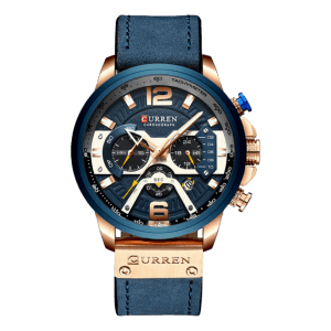 Curren Tachymeter Leather Blue